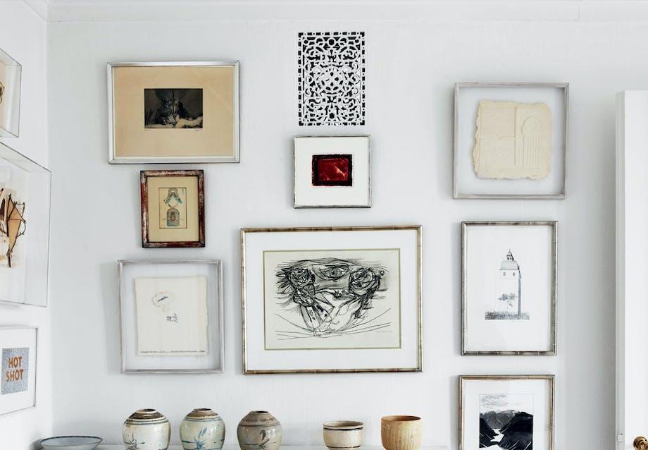 Hjem formet af kunsten