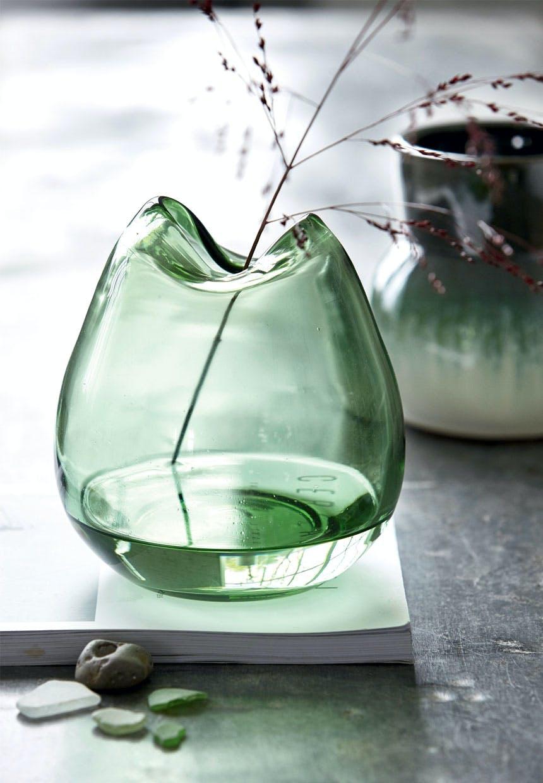 Grøn Wave-glasvase