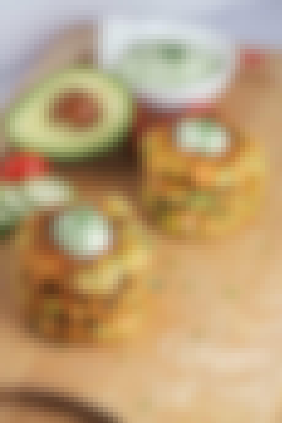 Squashfritter med acovadodip