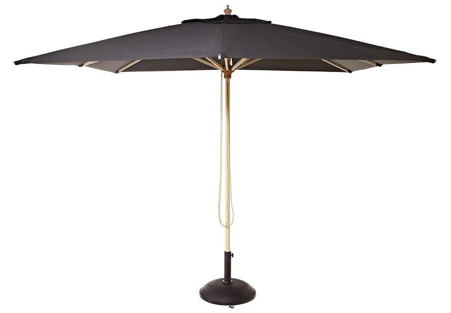 Parasol med top af træ