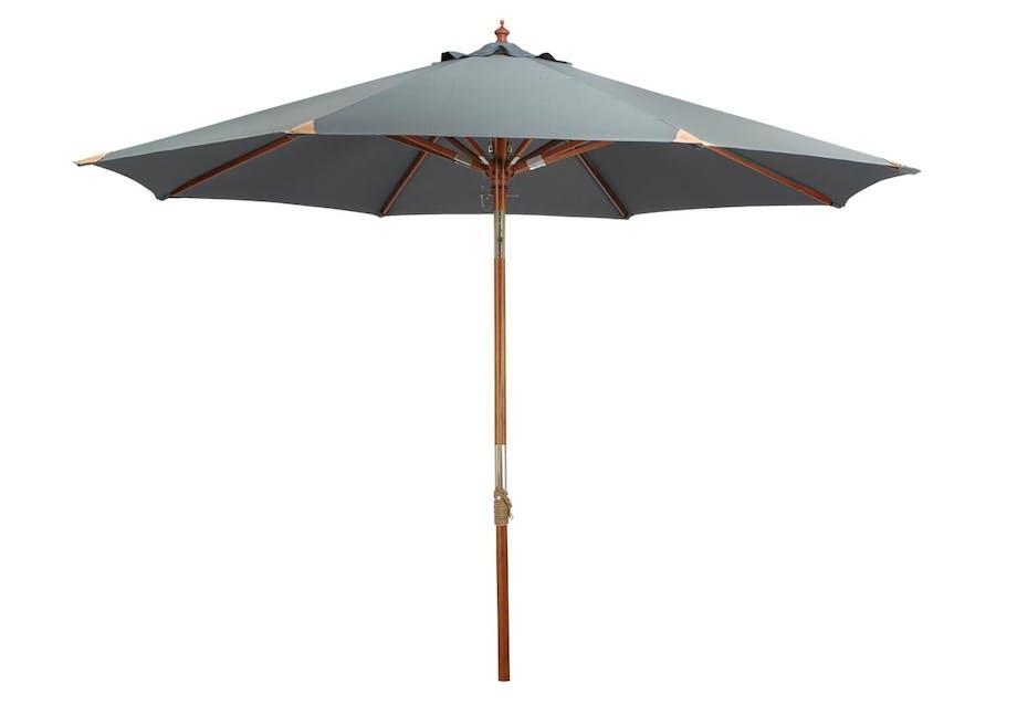 Parasol med læderforstærkning
