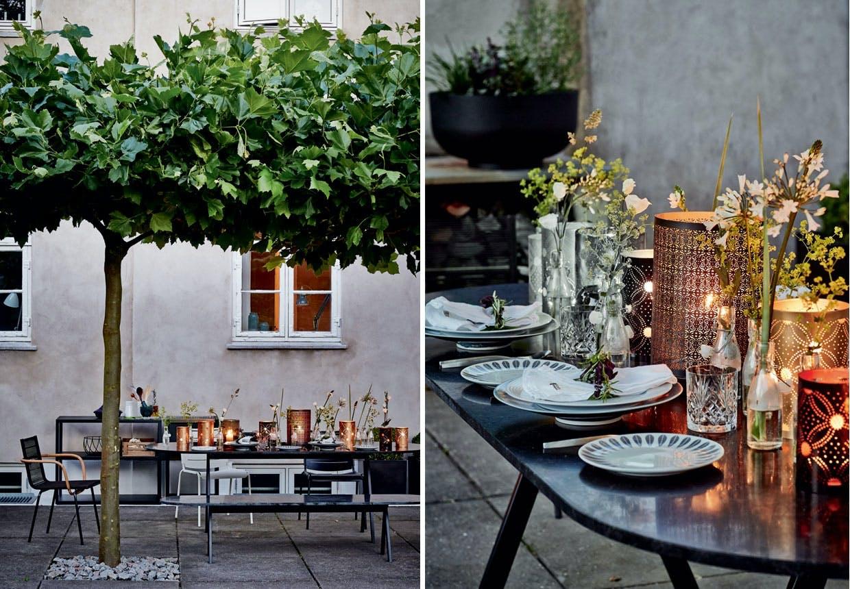Sådan dækker du op til middag på terrassen