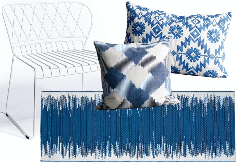 Møbler, tæpper, puder, højtalere til terrassen