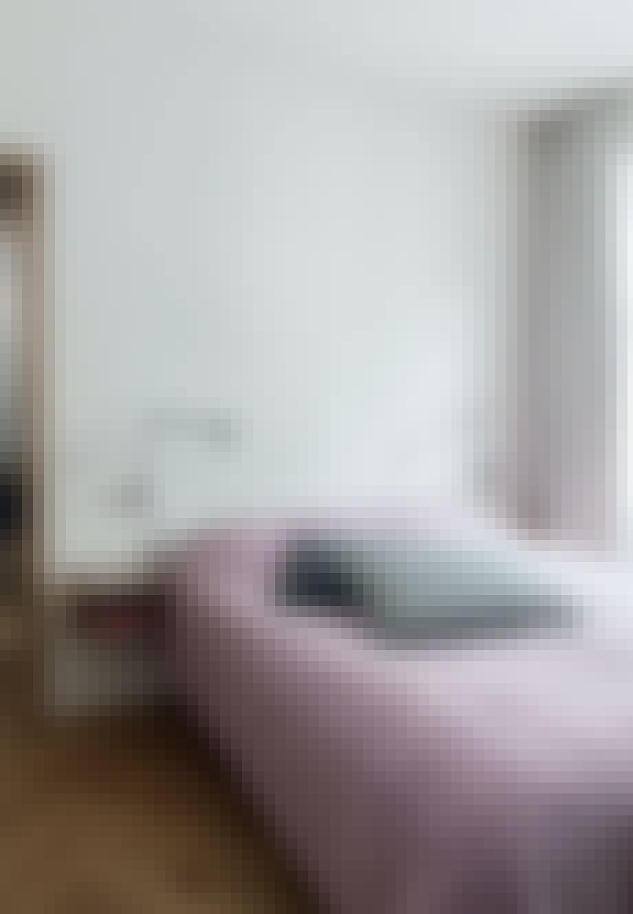Lavendelfarvet sengetæppe