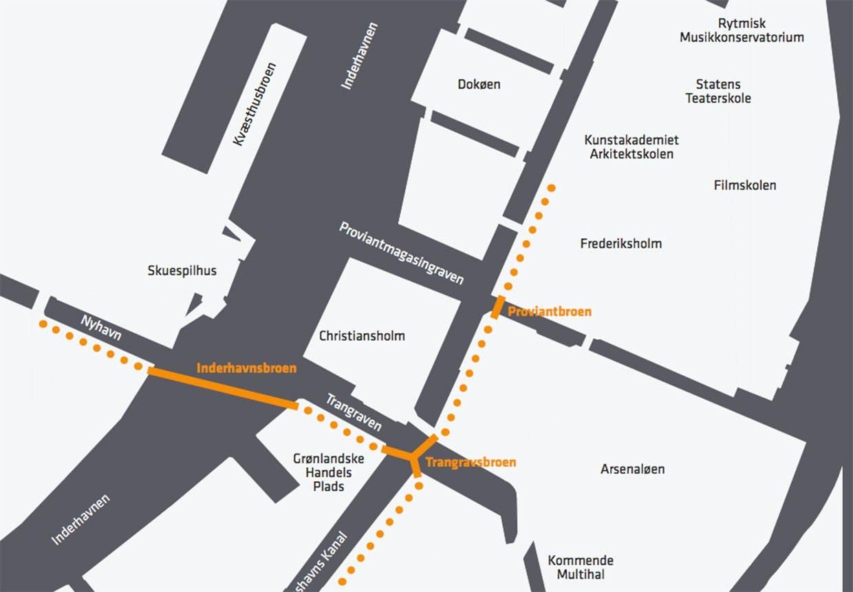 Det 3 nye broer i Københavns havn