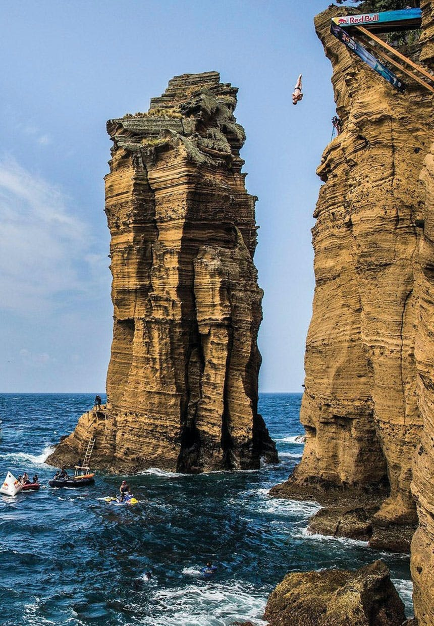 Azorerne, Cliff Diving, Portugal