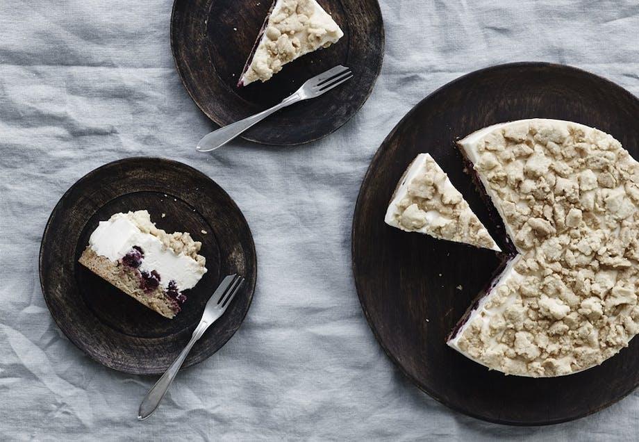 Cheesecake med kirsebær