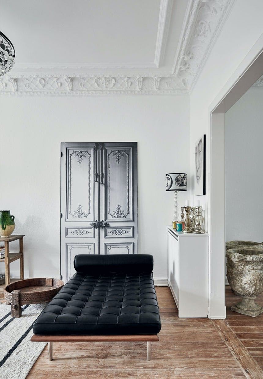Barcelona-chaiselong af Mies Van der Rohe