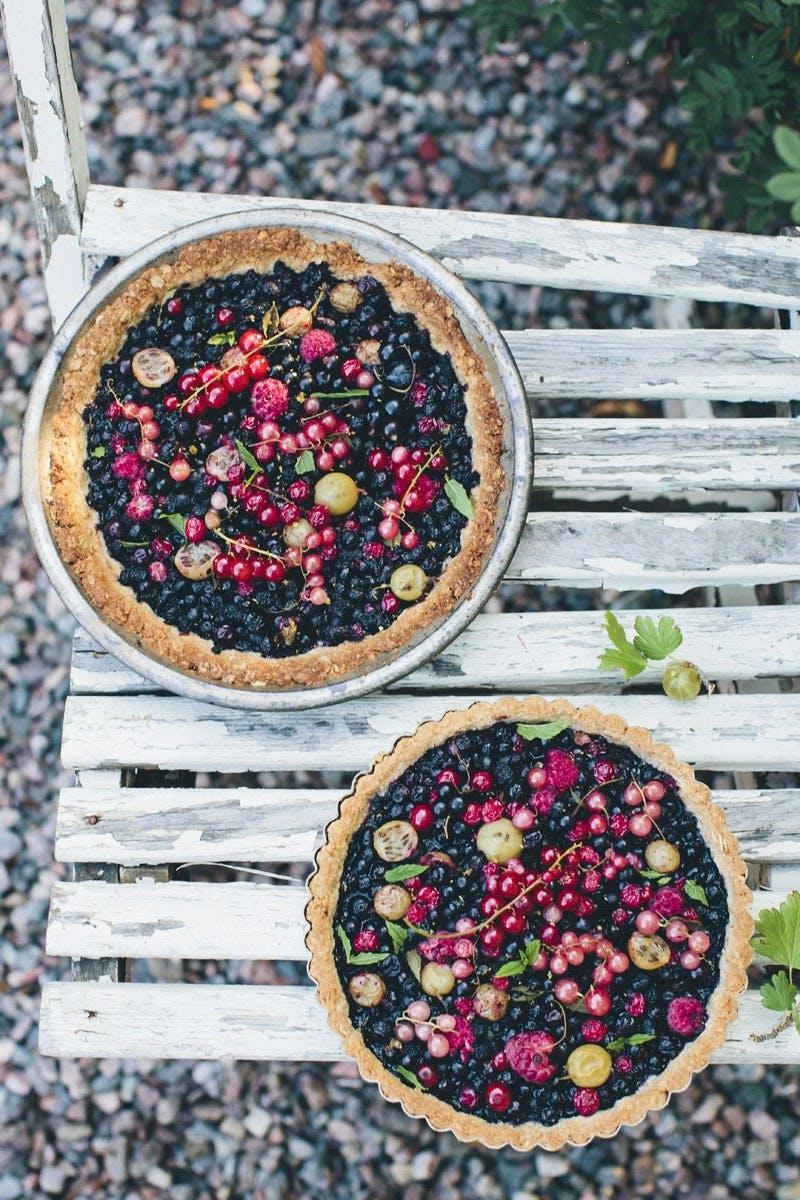 Tærte med vilde bær