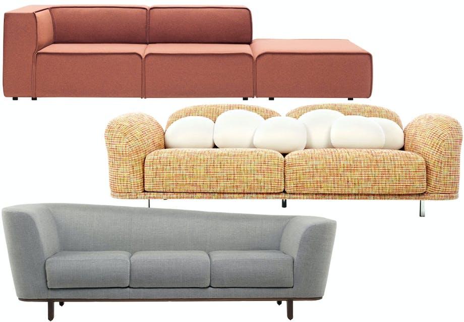 Fald ned i en ny sofa