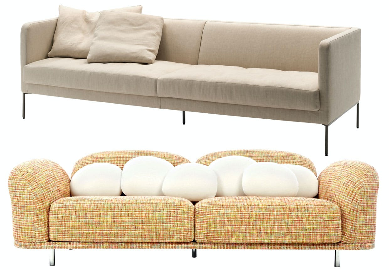 Farverig Cloud-sofa for Moooi