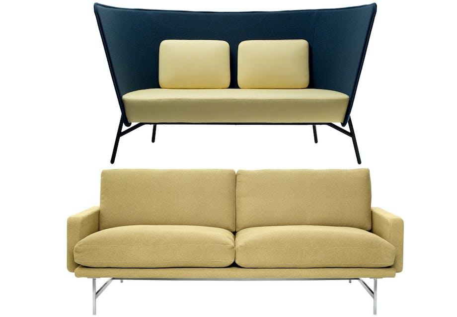 Smukke sofaer i gule nuancer