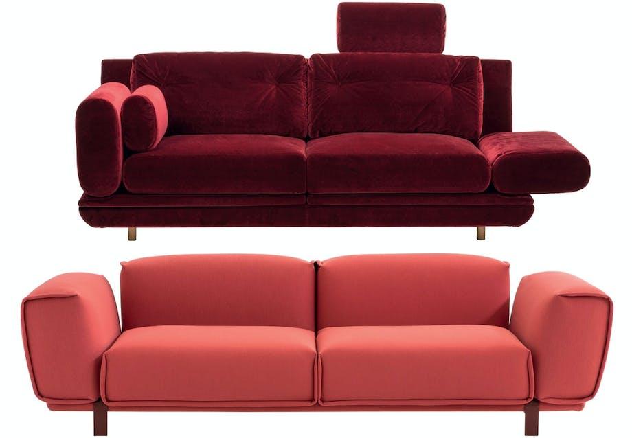 Elegant sofa i velour
