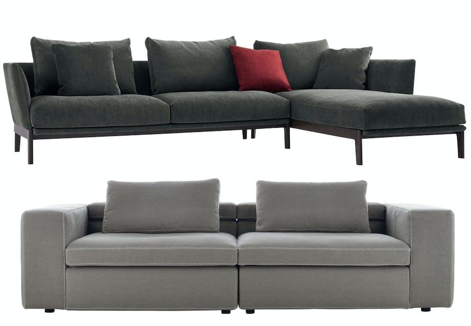 Sofaer i grå nuancer