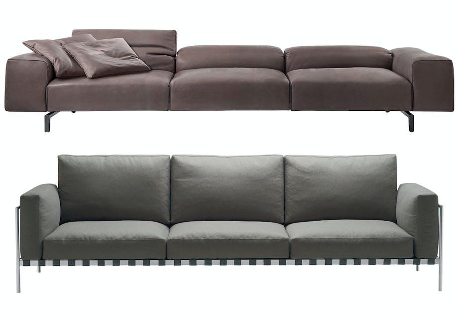 Sofa med horisontale linjer