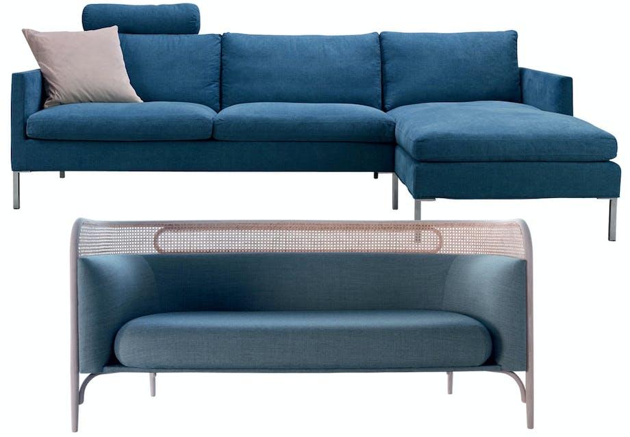 Enkel sofa med et moderne snit