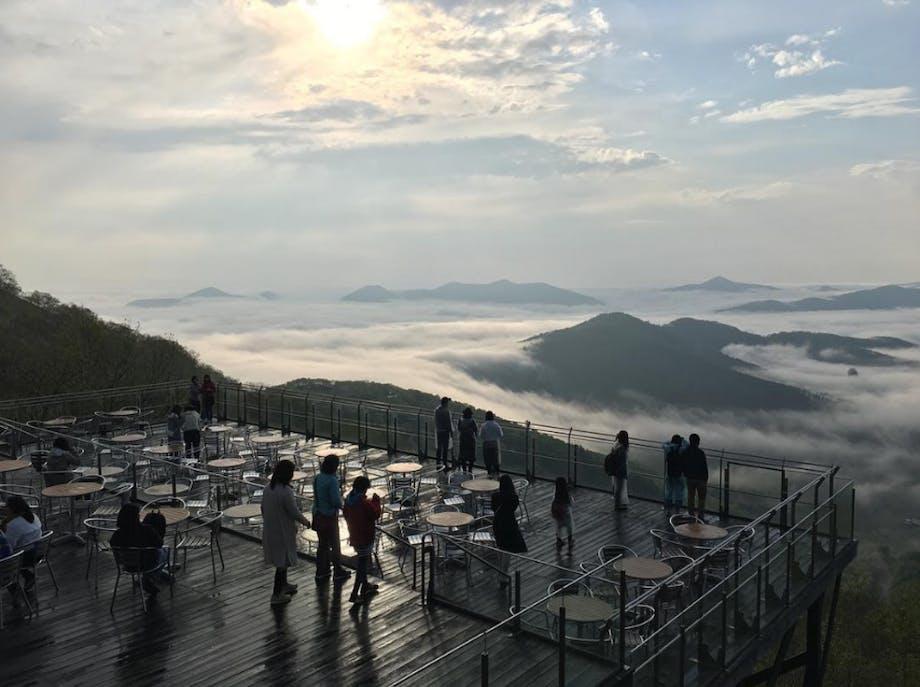 Unkai Terrace i Tokachi, Japan