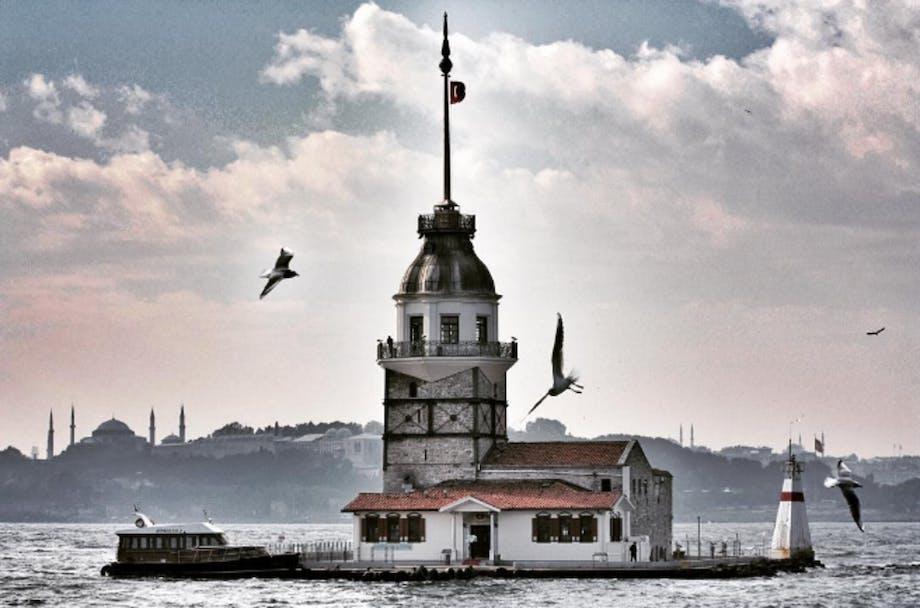 Kiz Kulesi i Istanbul, Tyrkiet.