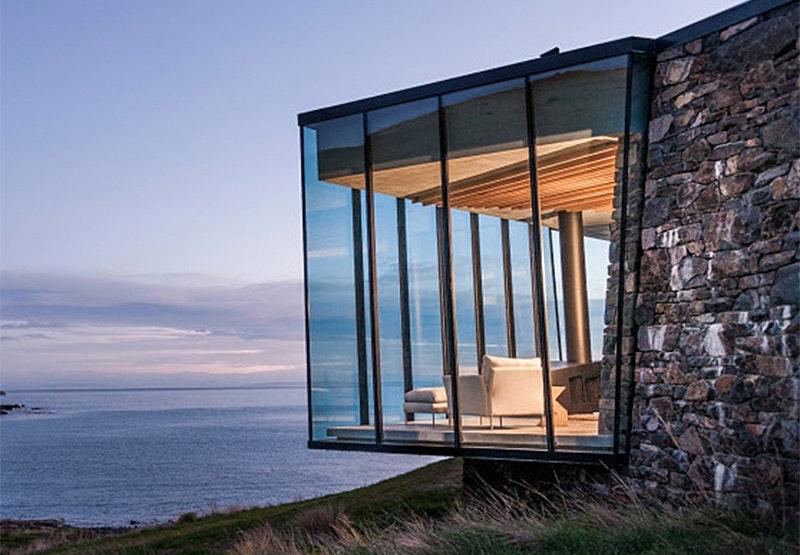 Seascape Retreat på Banks Peninsula i New Zealand er for nygifte.