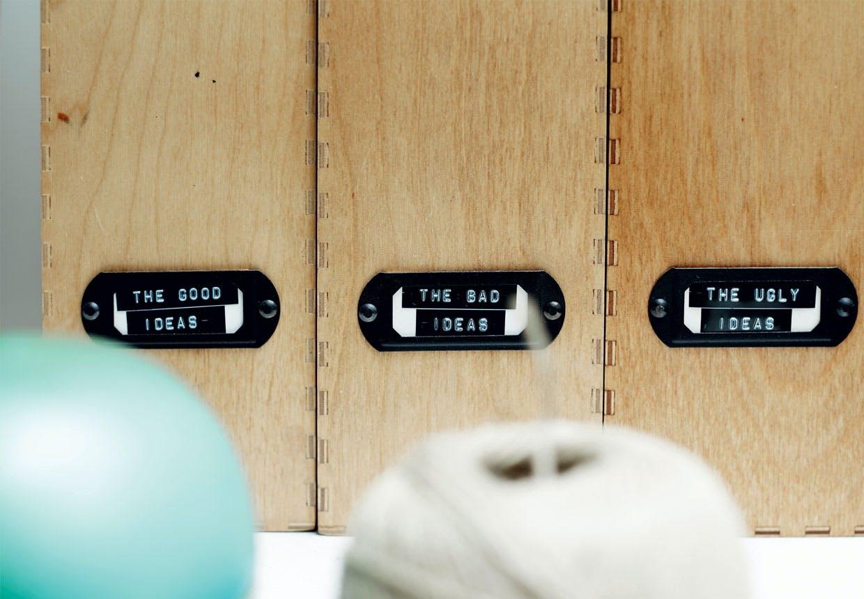 Arkivkasser til opbevaring på kontoret