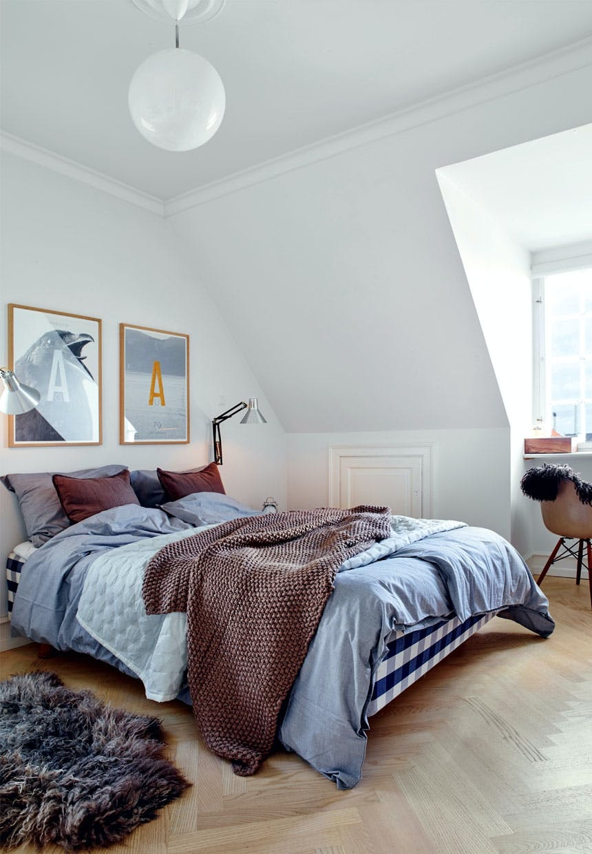 Skønt soveværelse med en Hästens-seng