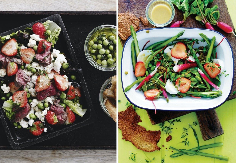 7 lækre salater med jordbær