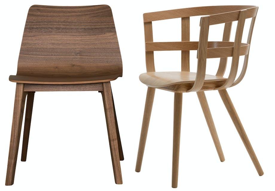Smukke spisebordsstole i træ