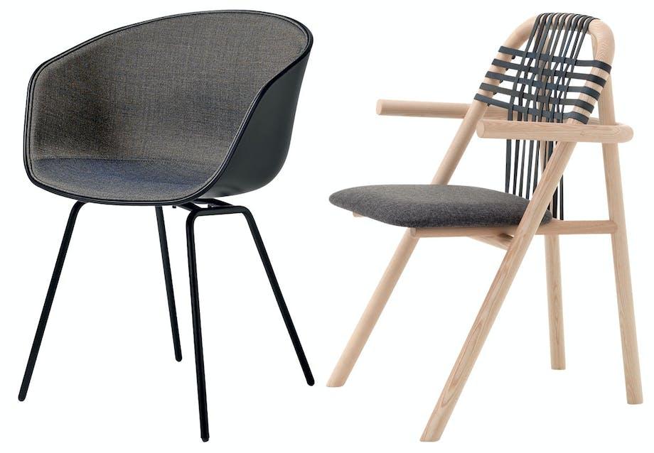 Komfortable spisebordsstole