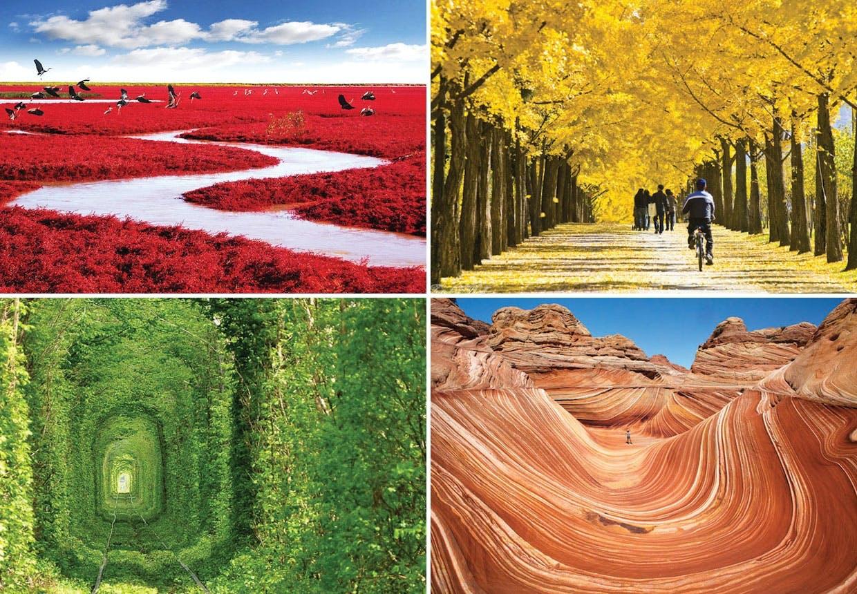 26 fantastiske landskaber i alle regnbuens farver