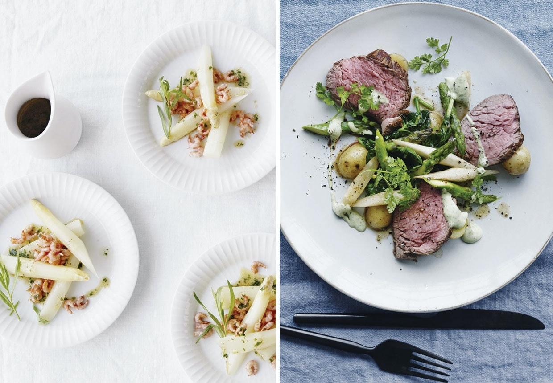 11 opskrifter med hvide friske asparges