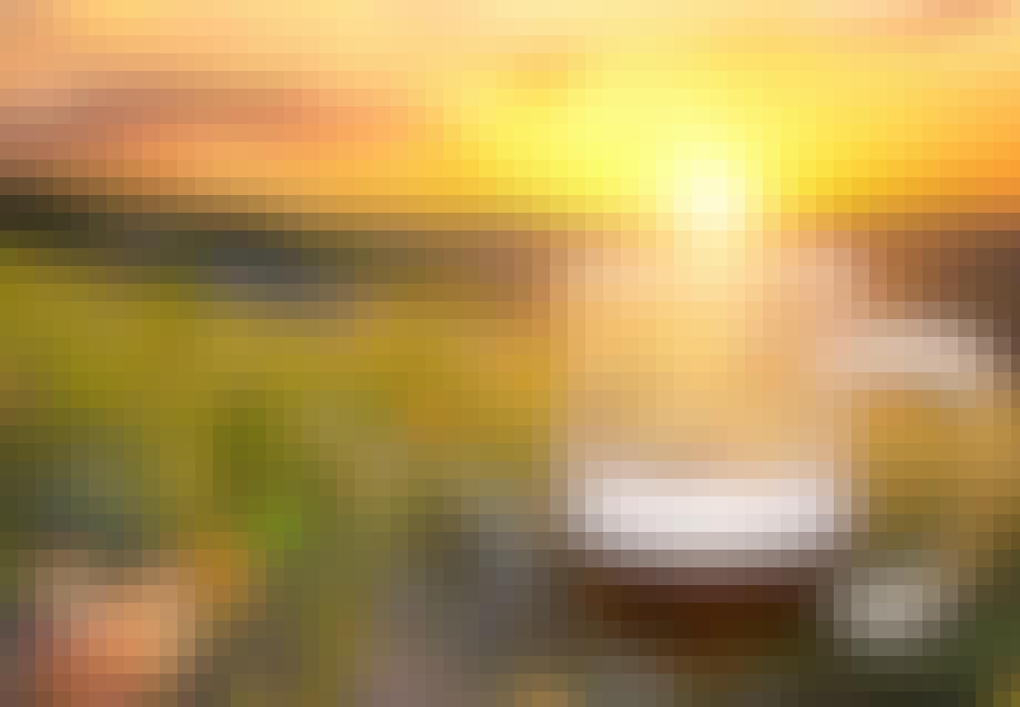 ... du tager solnedgangsbilleder med øl