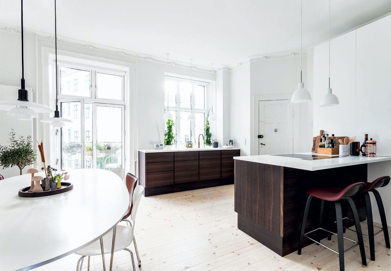 Lyst køkken i nyistandsat Københavner-lejlighed