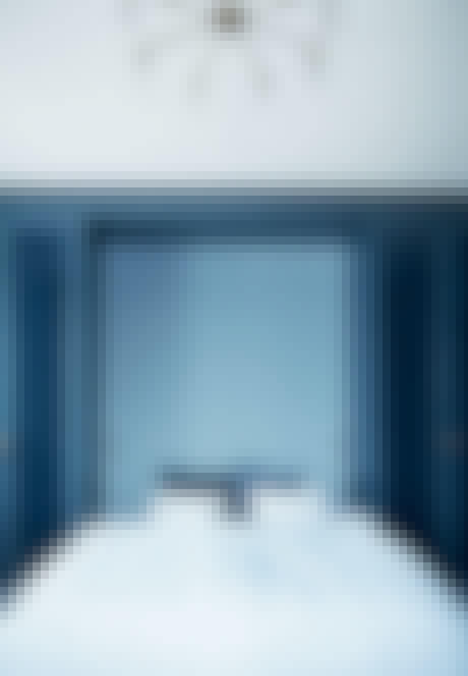 Soveværelse i blå toner