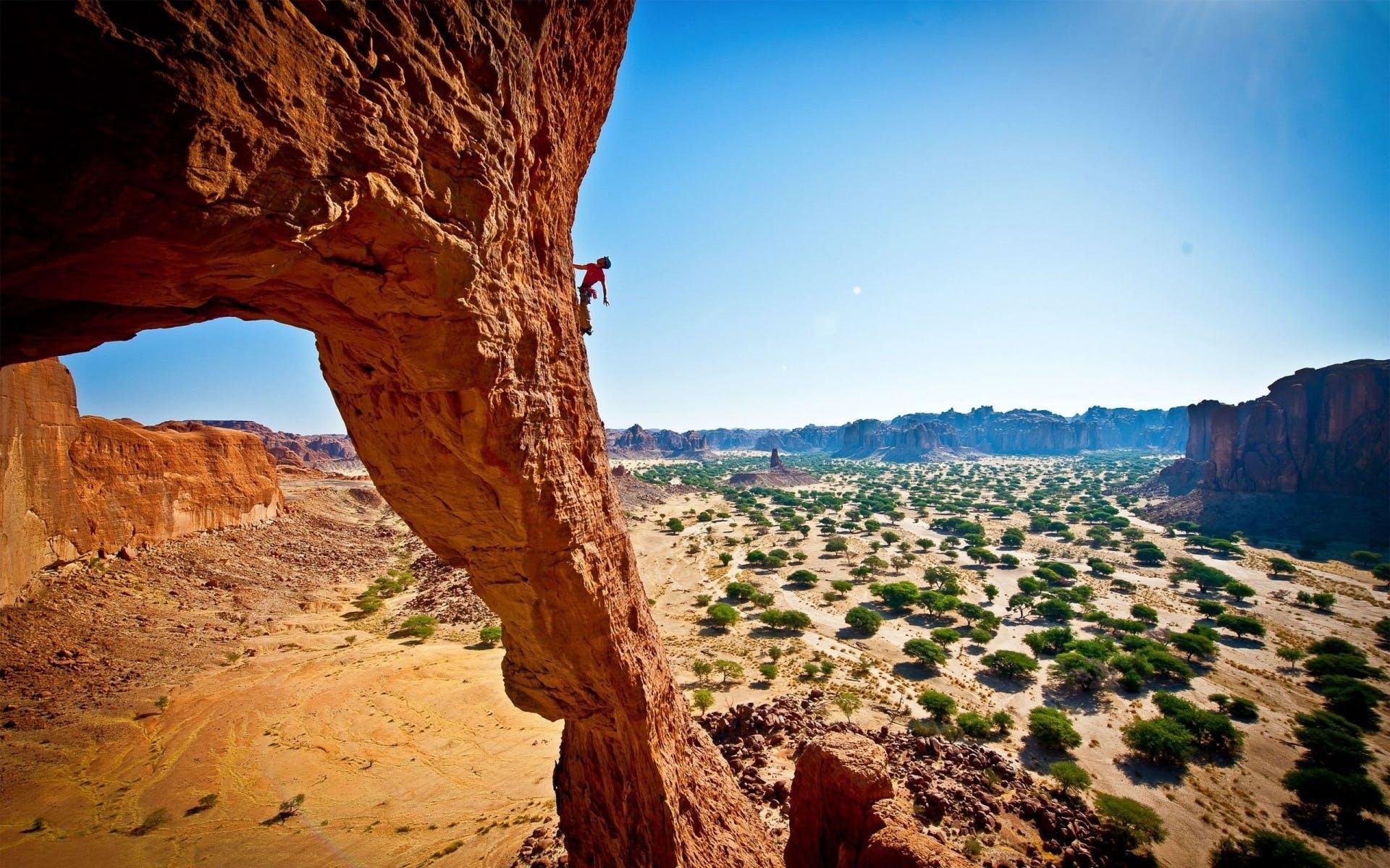 Udfordr dig selv med klippeklatring