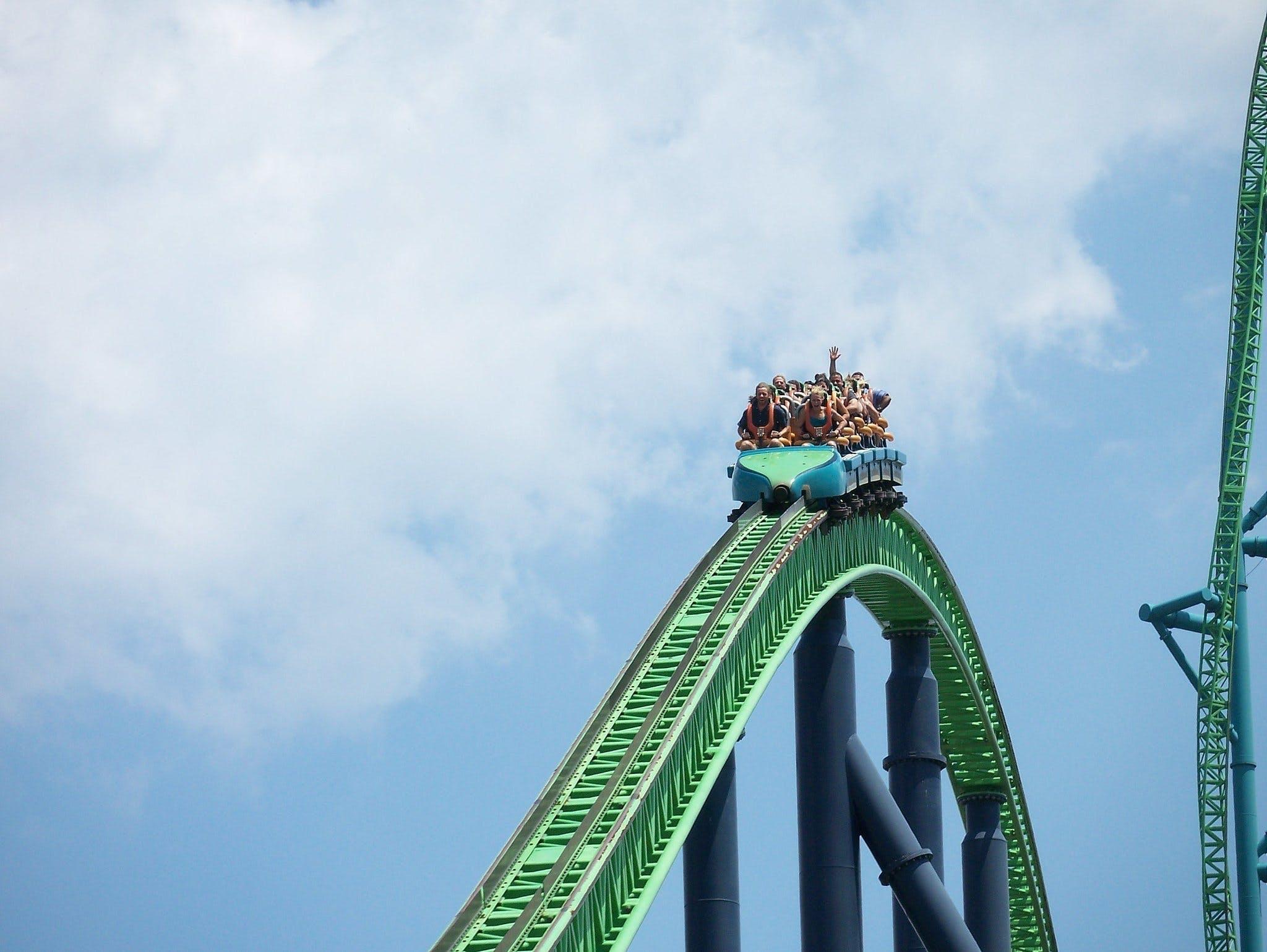 Prøv rutsjebanen Kingda Ka i forlystelsesparken Six Flags Great Adventures i New Jersey