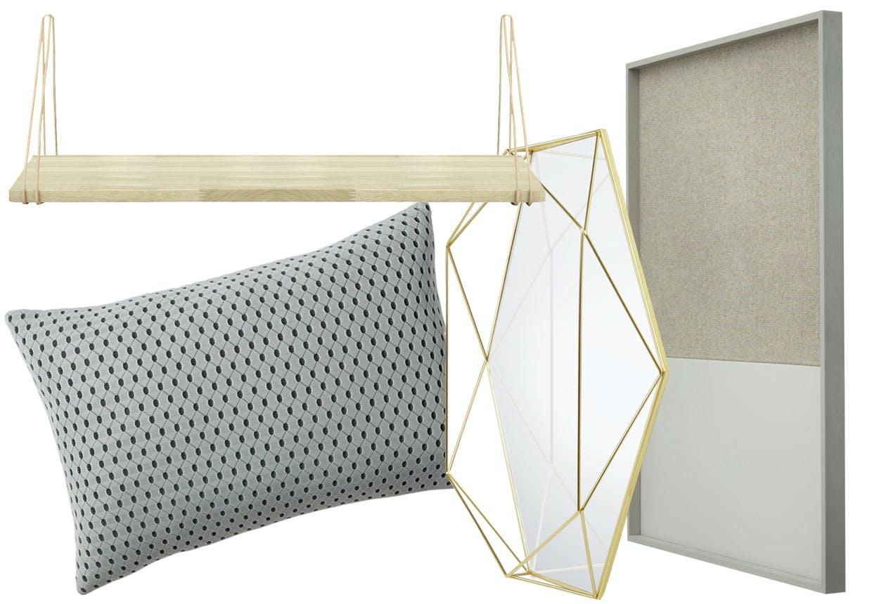 Mix og match materialer i indretningen: Glas, messing, træ, metal, tekstil og læder.