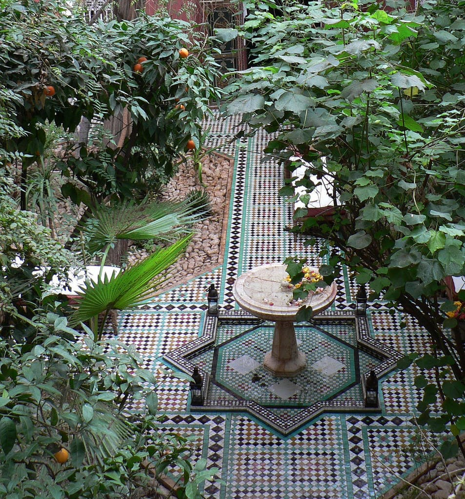 Atrium i Marrakech