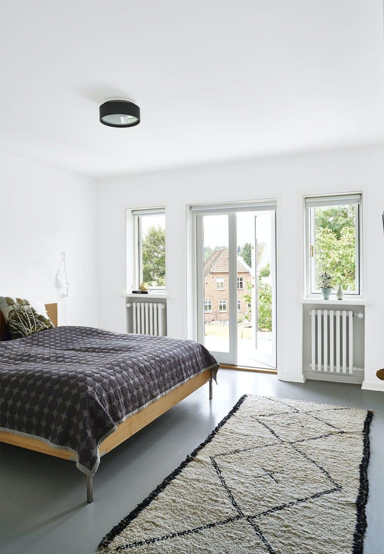 Soveværelse med fransk altan