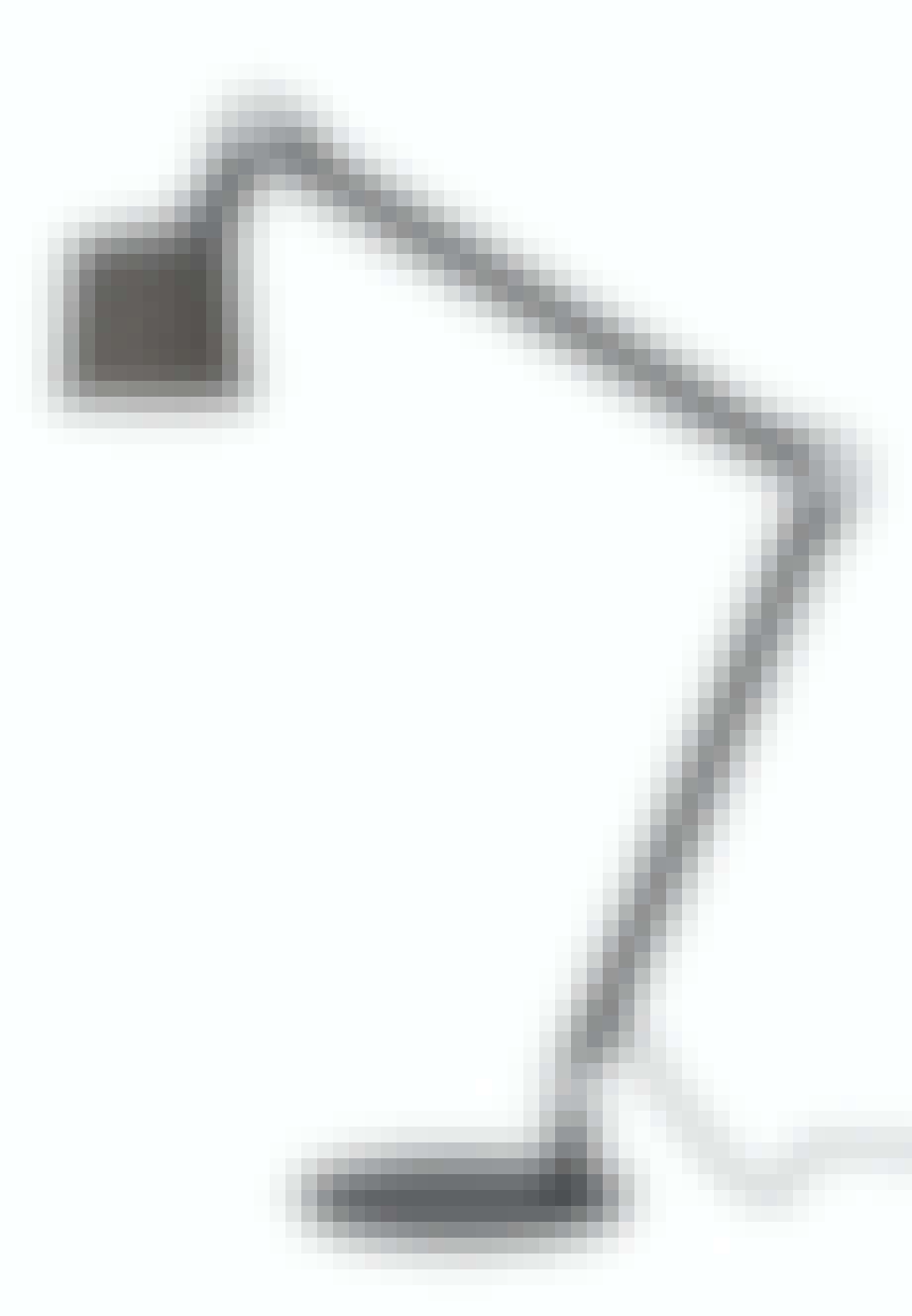 Bordlampe med justerbar arm