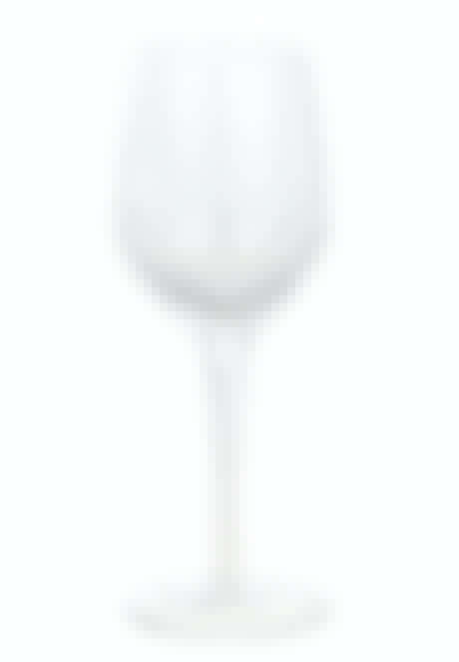 Hvidvinsglas med bobler