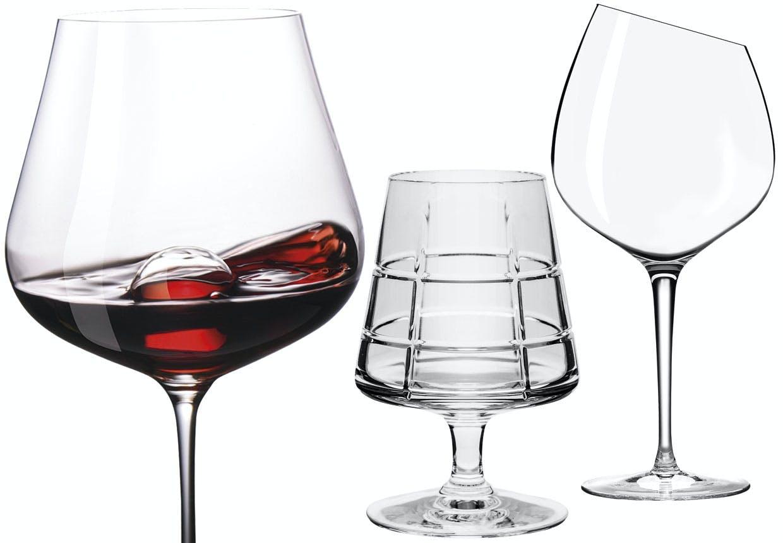 Personlige vinglas - rødvinsglas og hvidvinsglas.