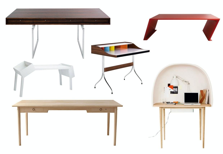 Skriveborde og kontorborde af morderne og klassiske møbeldesignere