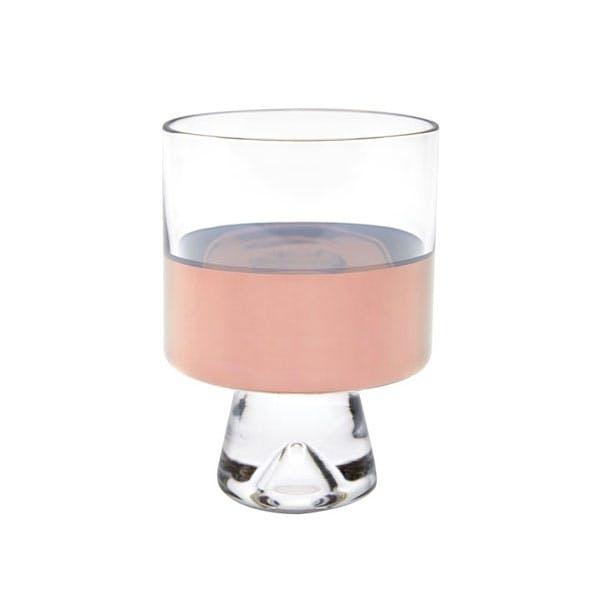 Glas med håndmalet kobber fra Tom Dixon.