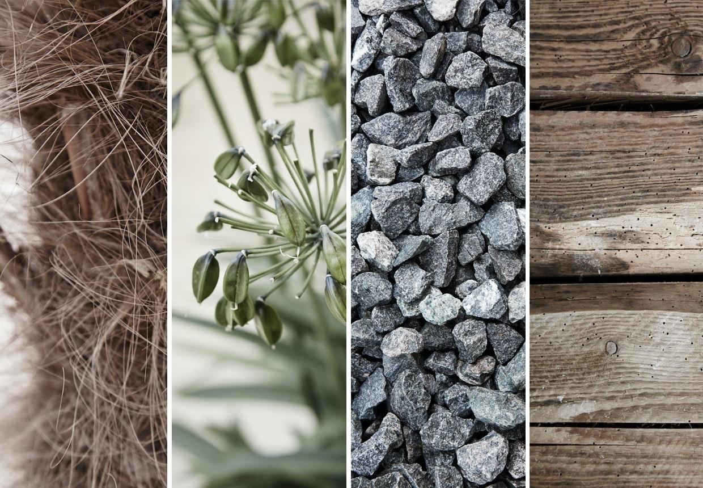 Kontraster i forskellige materialer, teksturer og overflader