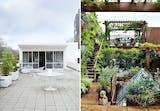Fantastiske tagterrasser med planter, blomster og moderne møbler.