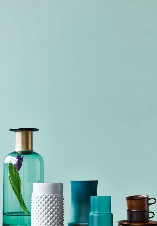 Vaser i blå-grønne nuancer