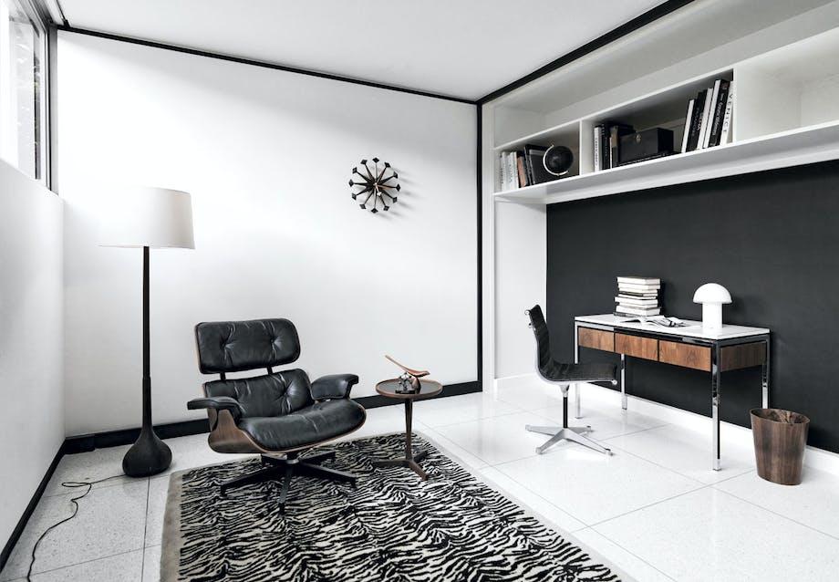 Hjemmekontor med Eames loungestol