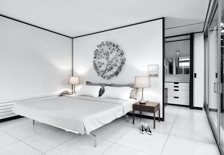 Åbent og luftigt soveværelse