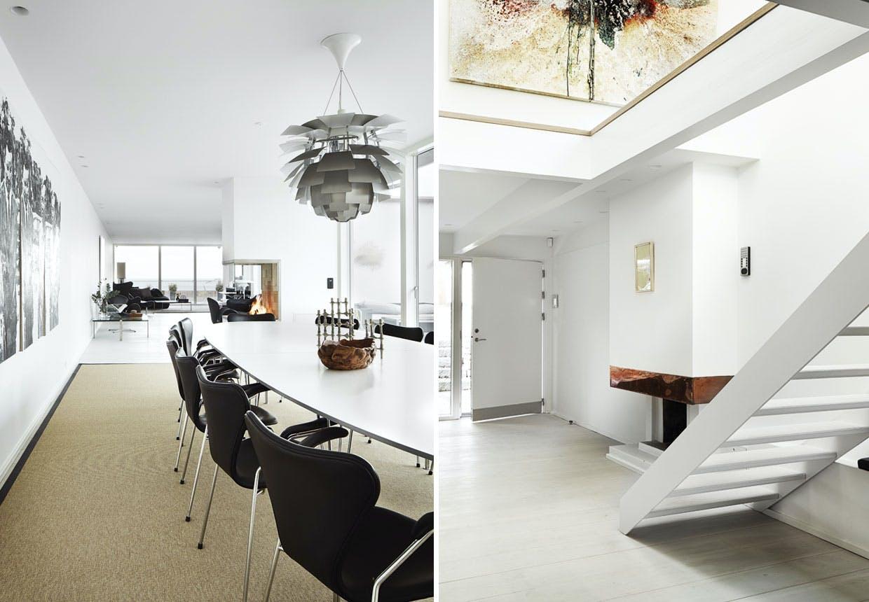 Stor moderne luksusvilla med elektroniske løsninger.