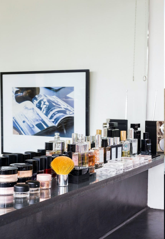 Hylde til beautyprodukterne